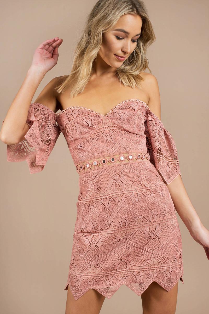 Annika Off Shoulder Lace Dress