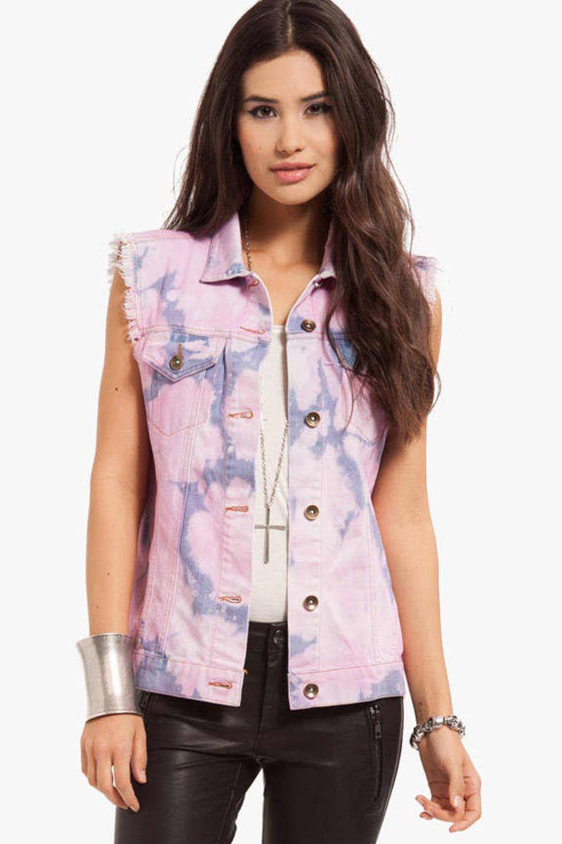 Cotton Candy Denim Vest