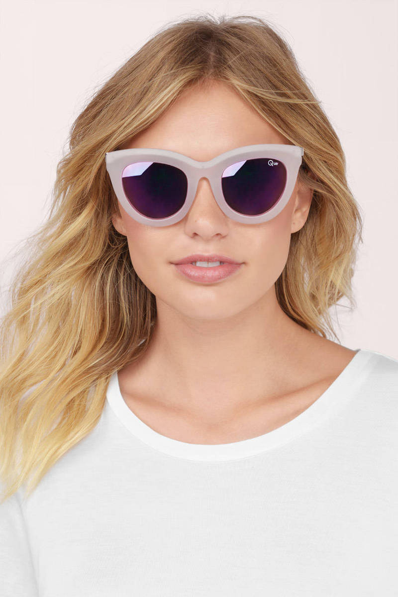 QUAY Quay Eclipse Pink Sunglasses