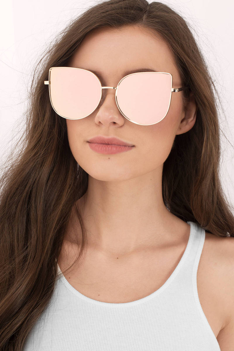 I Just Want You Pink Oversized Cat Eye Sunglasses C 19