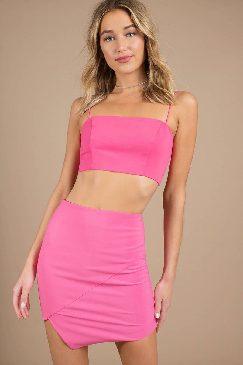 bd379d8980e Neon Pink Crop Top - Square Neck Crop Top - Neon Pink Cami Crop Top ...