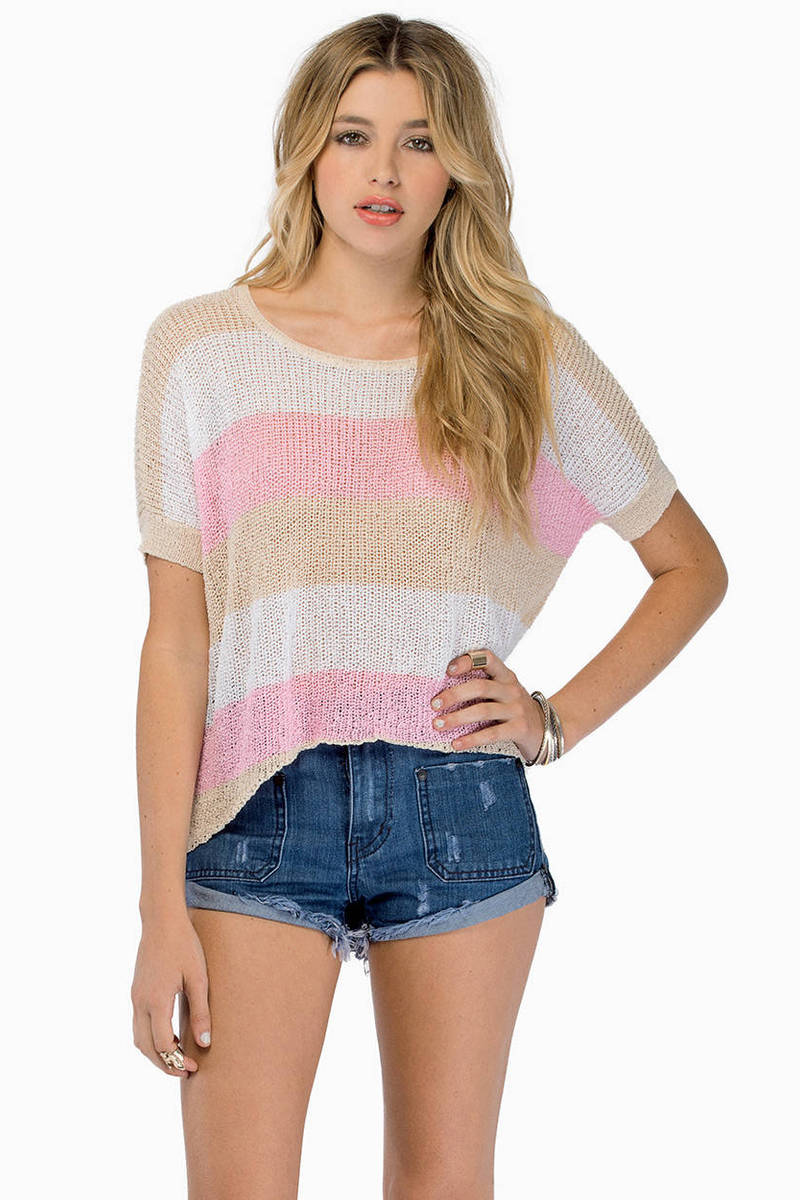 Yikes Stripes Pink Multi Sweater