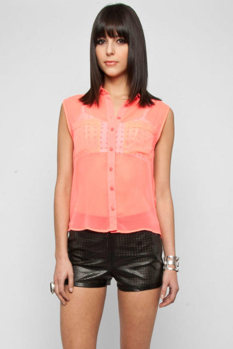 Cotton Candy Neon Short Sleeve Blouse