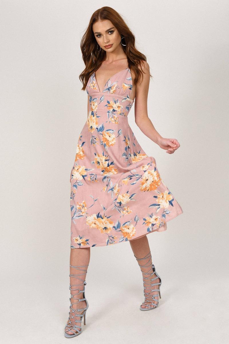 ea75659f73f30 Nikki Floral Midi Dress