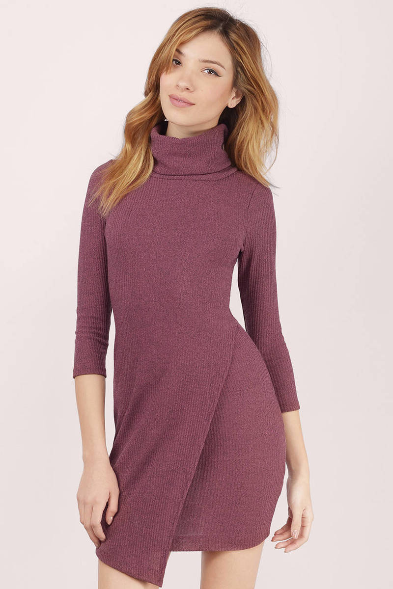Trendy Pink Bodycon Dress - Knitted Dress - Bodycon Dress - $15 ...
