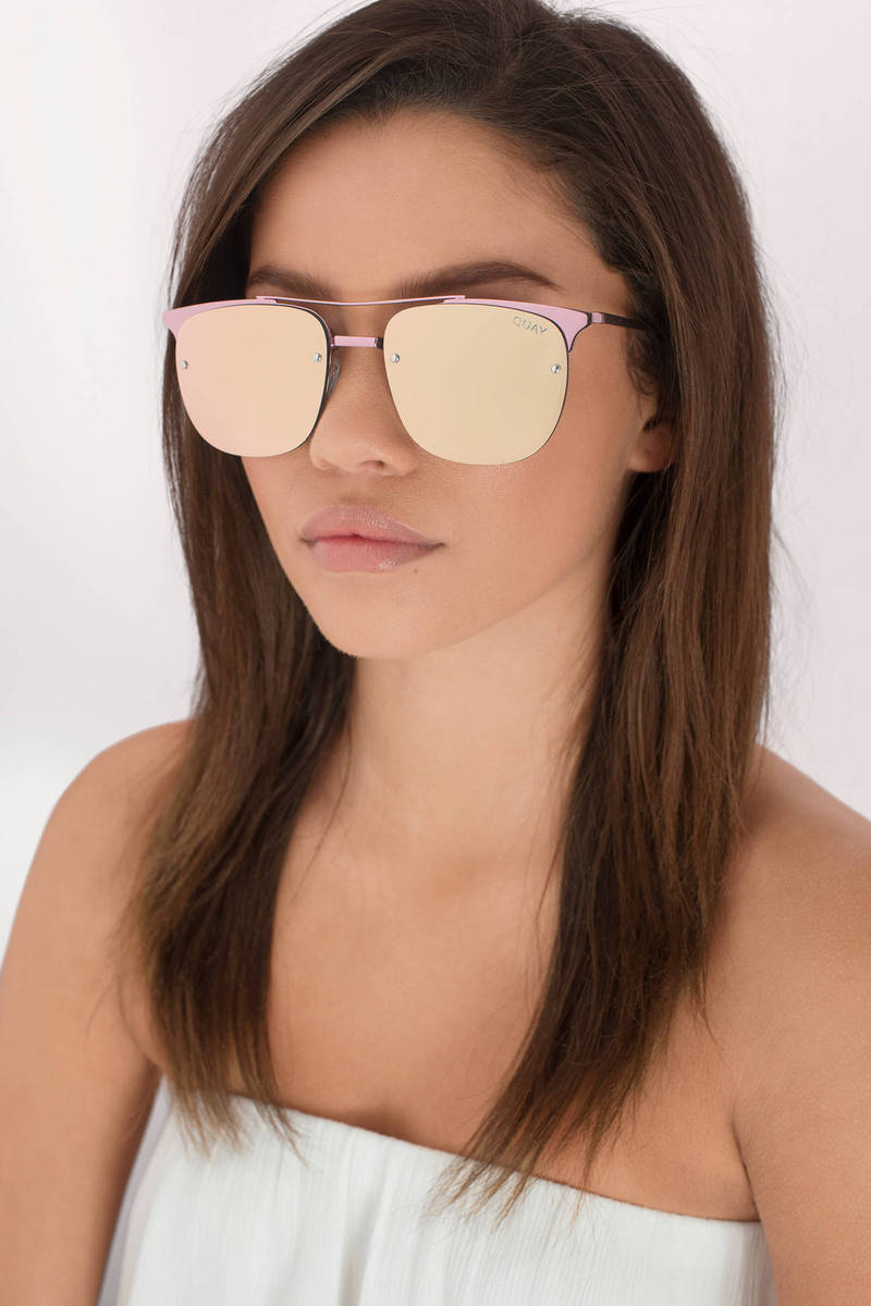 QUAY Private Eyes Mirrored Sunglasses