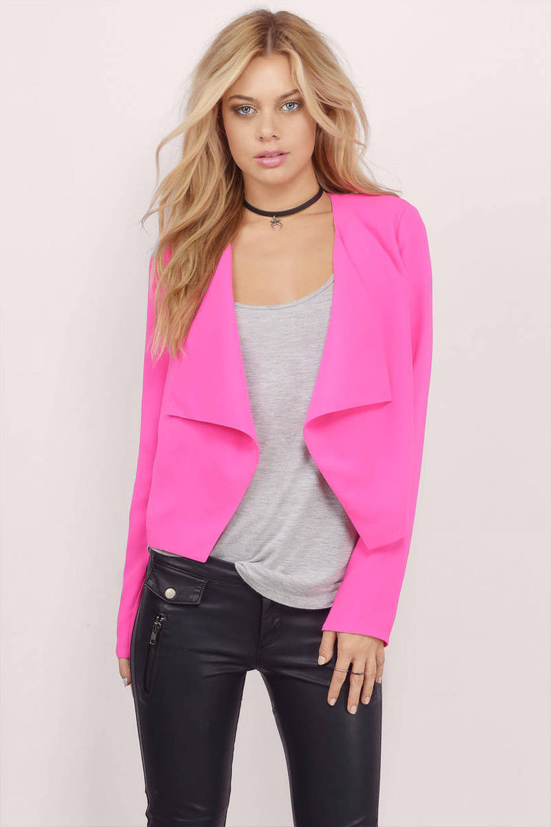 See My Point Pink Blazer
