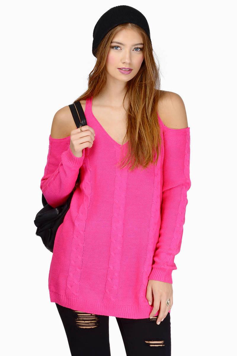 Show Off Cold Shoulder Sweater - $19 | Tobi US
