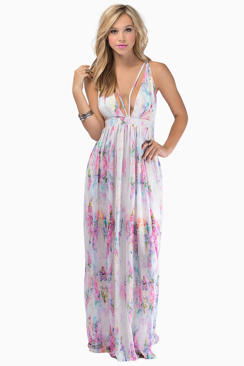Oh My Love Take the Plunge Maxi Dress