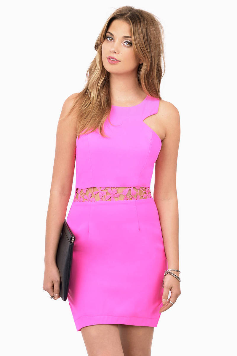 Tea Party Pink Bodycon Dress