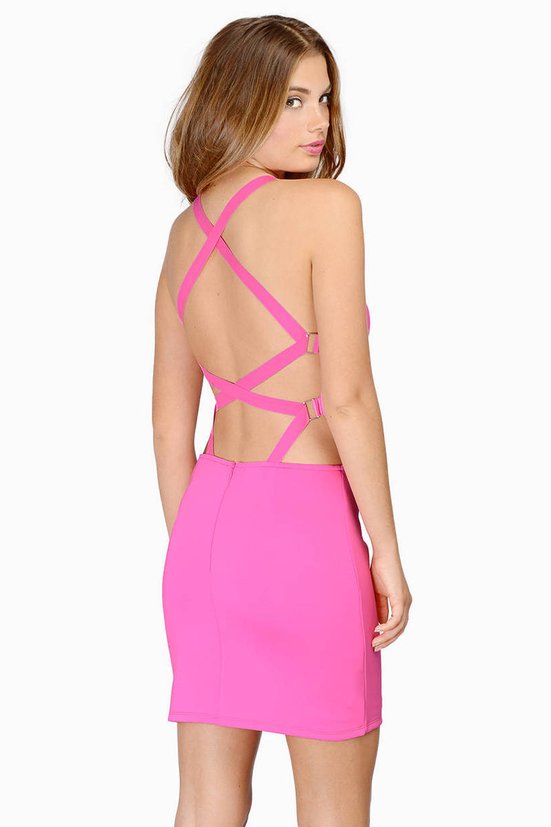 The Little Party Pink Bodycon Dress