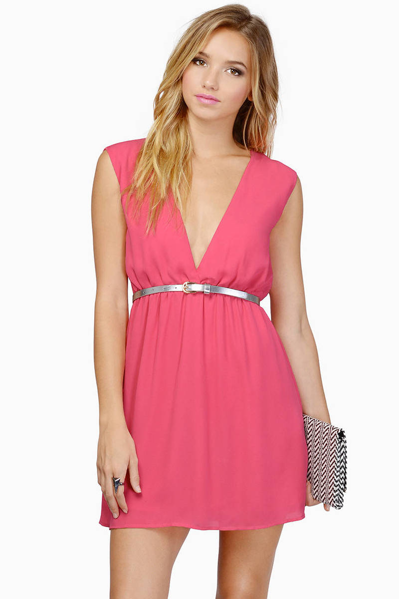 Yes Or Low Pink Shift Dress