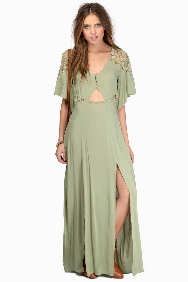 Woodland Resort Rust Maxi Dress