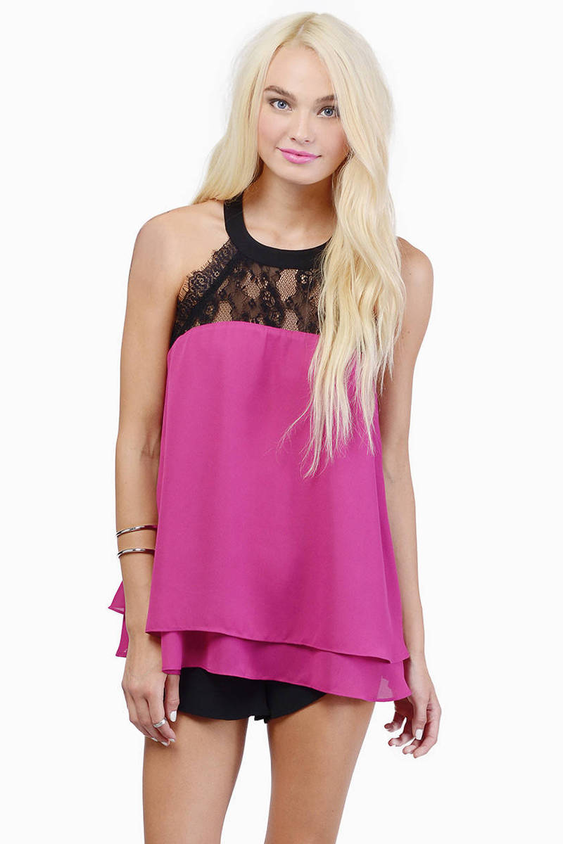 Bat Your Lashes Plum Tank Top