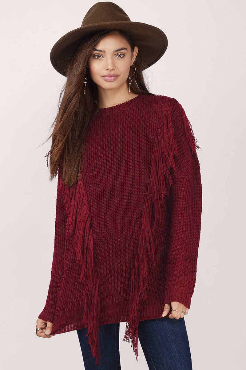 Lost Time Fringed Sweater