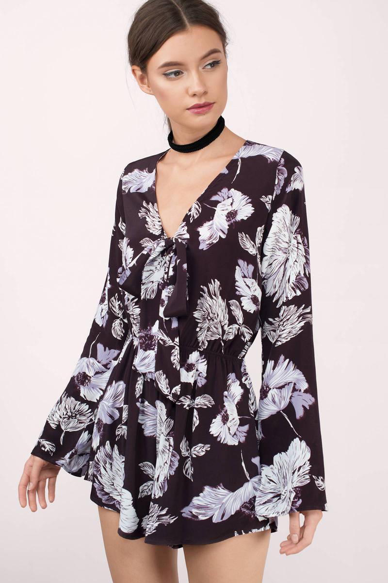 Amanda Plum Multi Floral Chiffon Romper