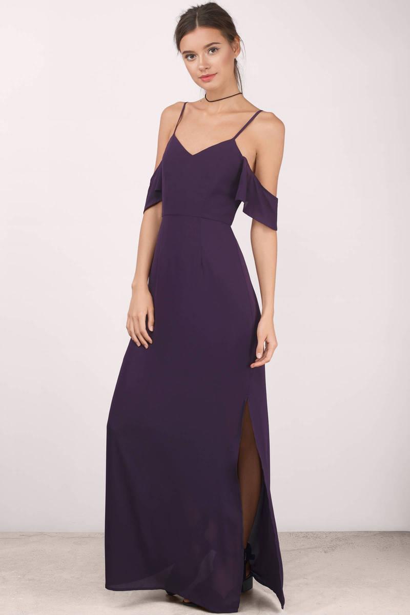 sexy plum maxi dress cold shoulder dress maxi dress