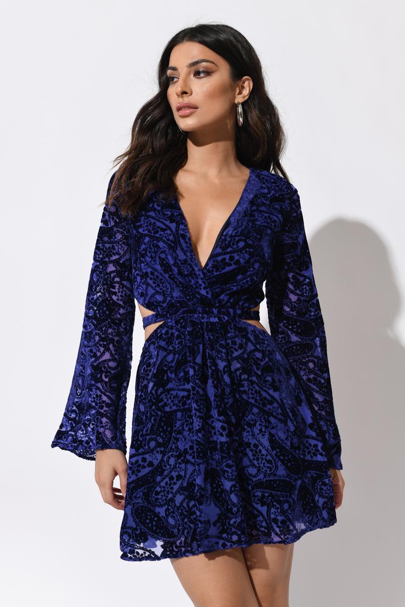 31ffdb1e29c7f Selena Velvet Burnout Dress