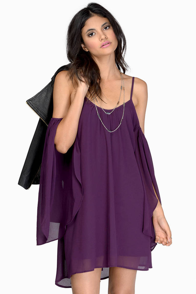 Weekend Getaway Plum Day Dress
