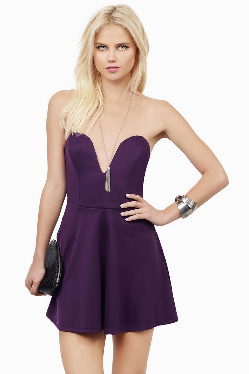 Deep In Love Purple Skater Dress