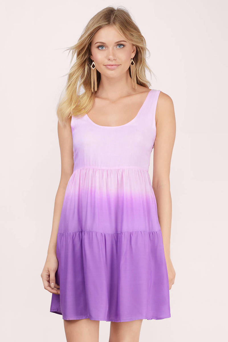 Slow Fade Purple Skater Dress
