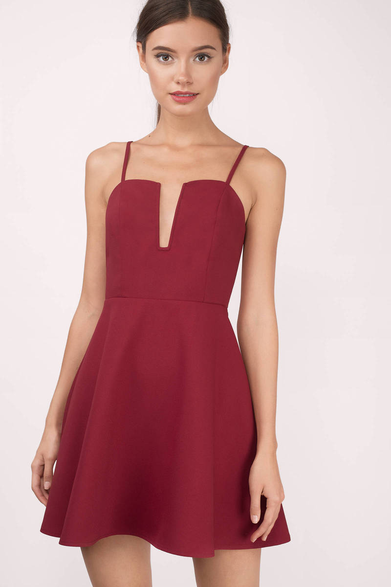 Amie Red Skater Dress