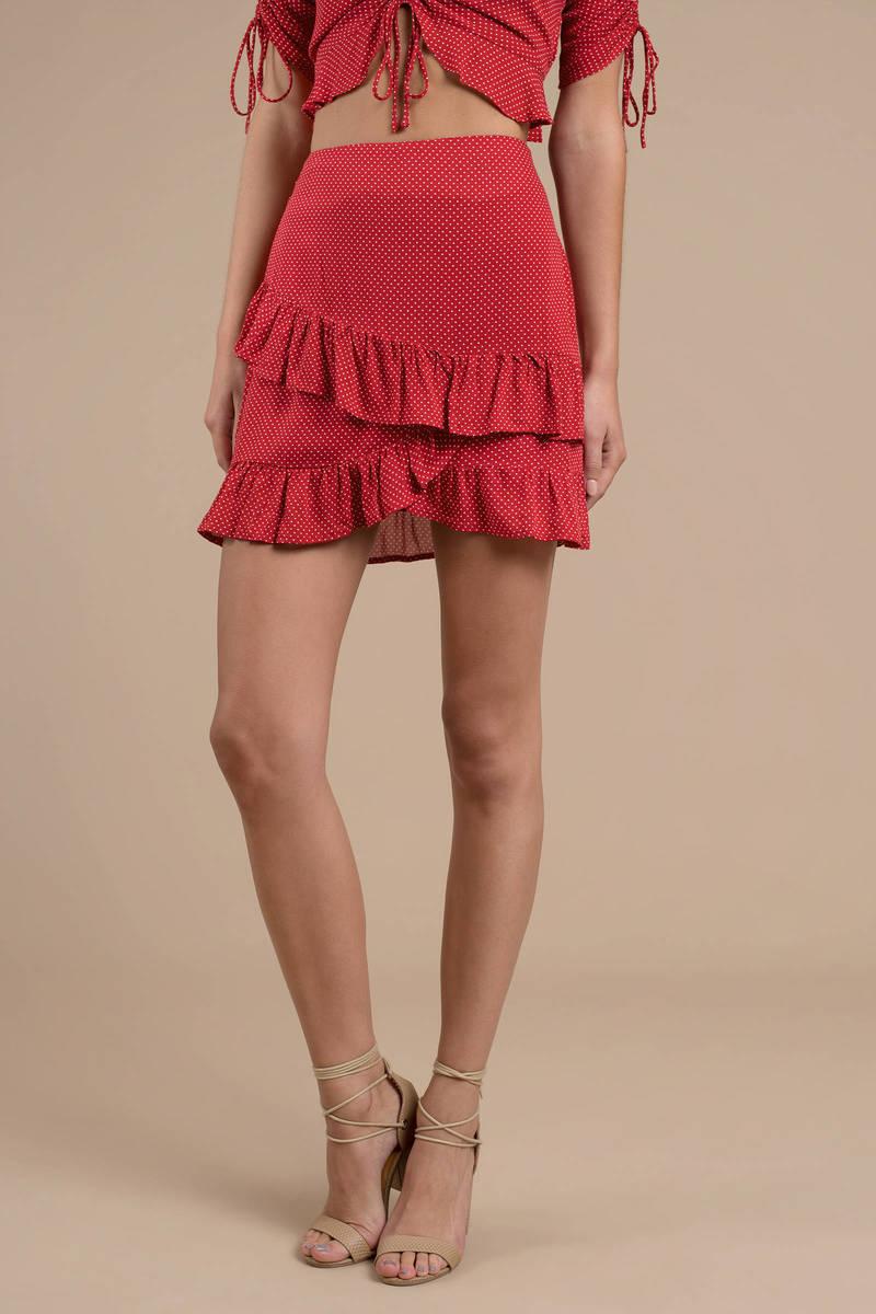 4bd5d210d Lost + Wander Ay Caramba Red Polka Dot Skirt - $80 | Tobi US