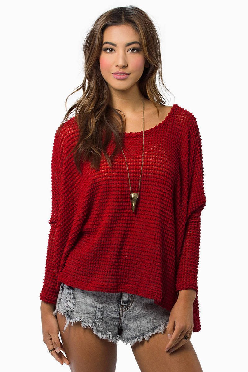 Edgemont Red Knitted Sweater
