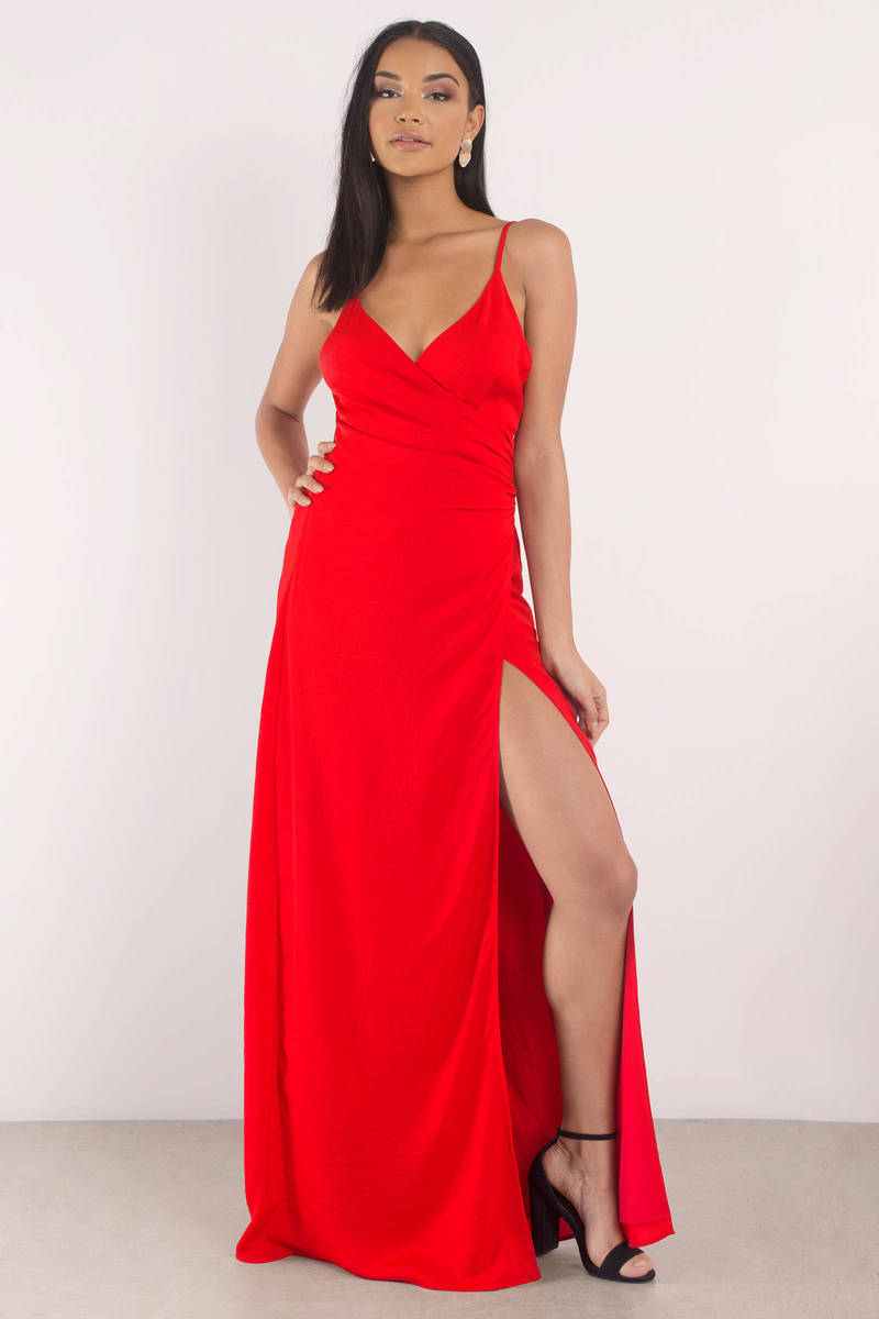 black dress with high slits sexy red dress high slit dress deep v neckline 31 5396
