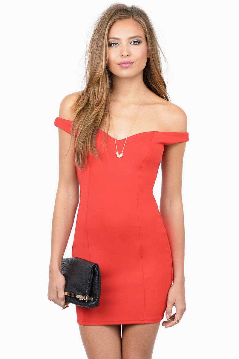In The Meadows Red Bodycon Dress