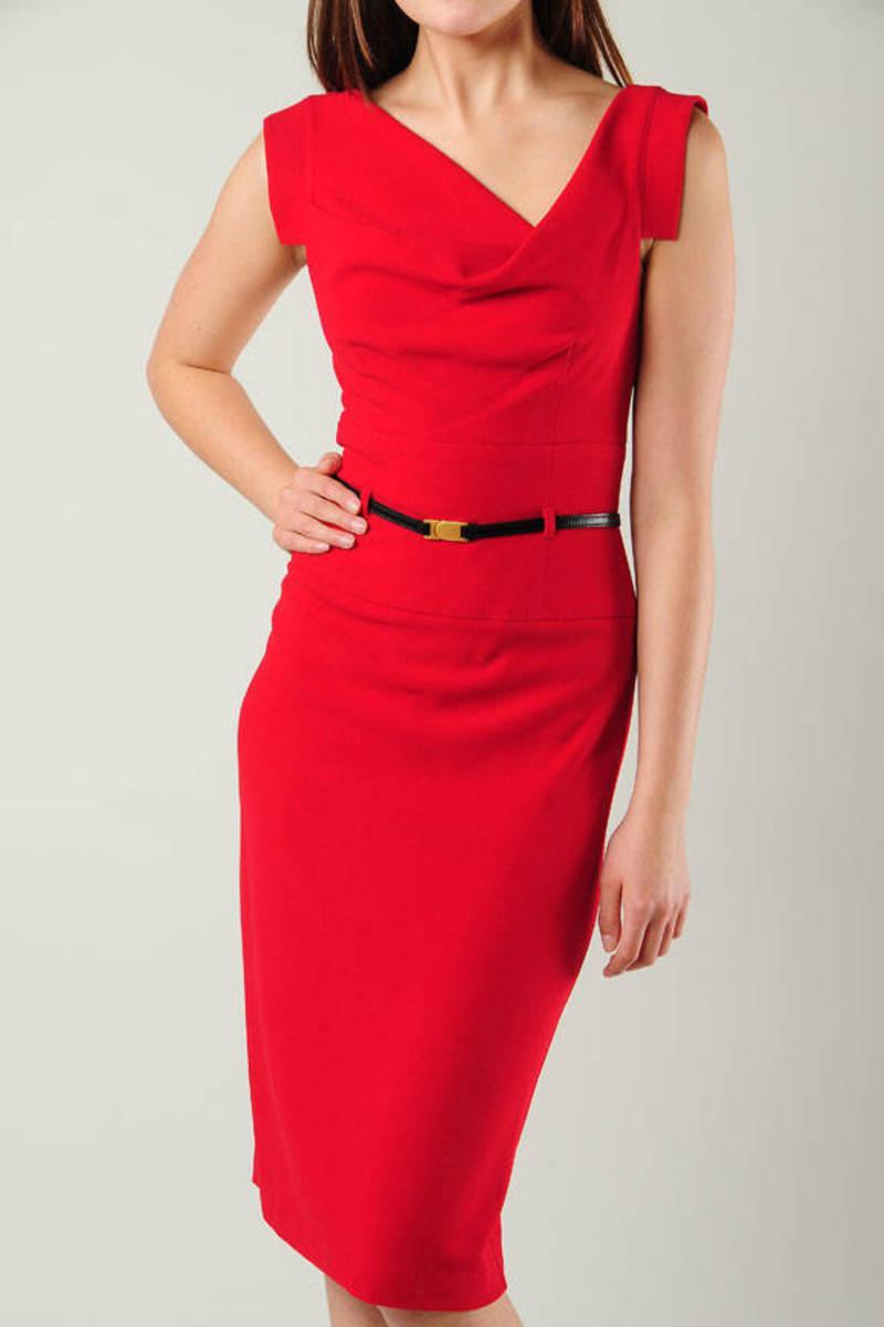 d53d47274661 Red Pencil Dress - Pretty Work Dress - Classic Red Dress - $345 ...
