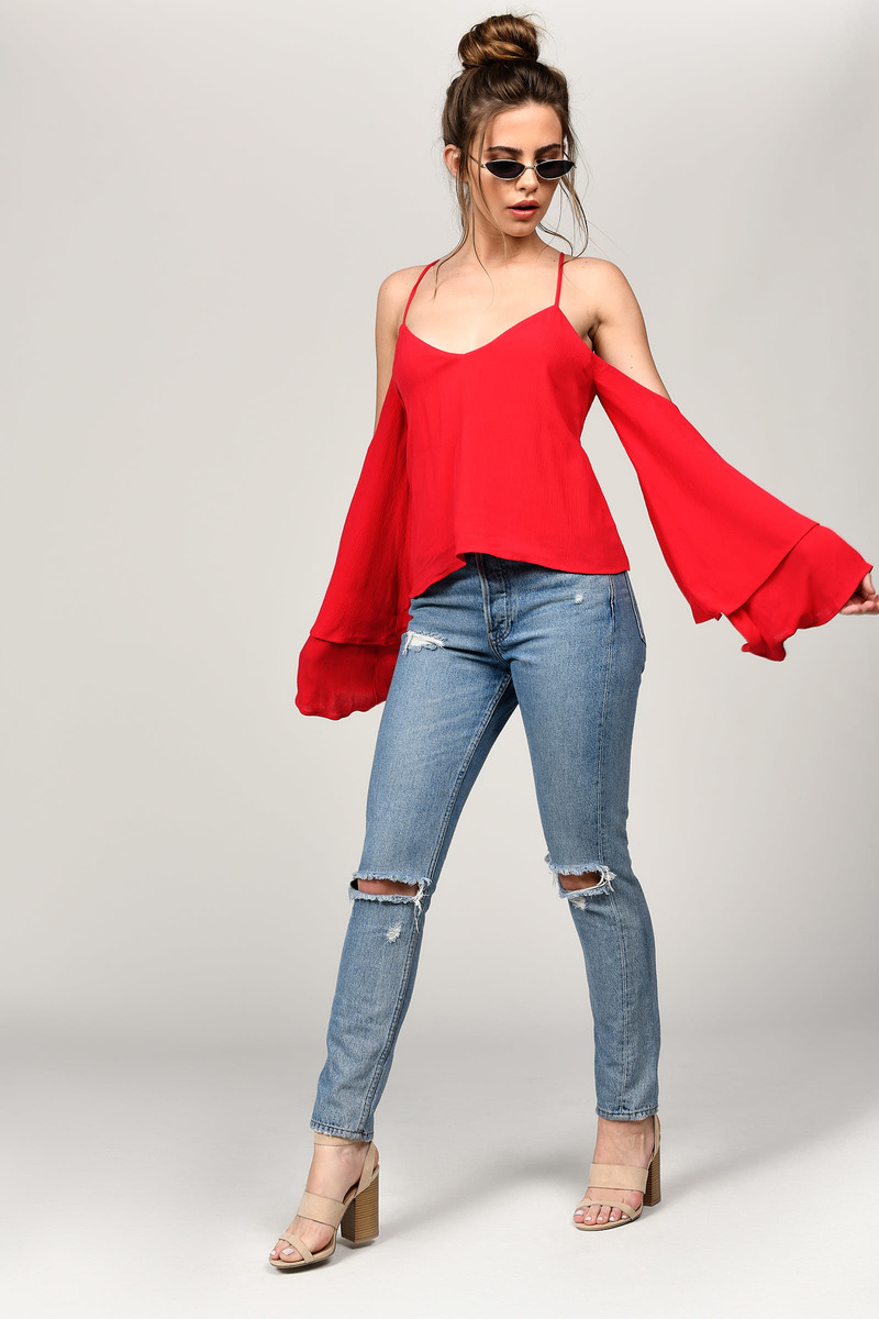 purchase newest promo codes latest trends of 2019 Jillian Cold Shoulder Blouse