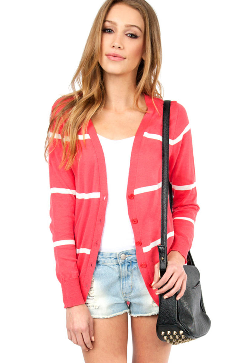 Lined Up Cardigan