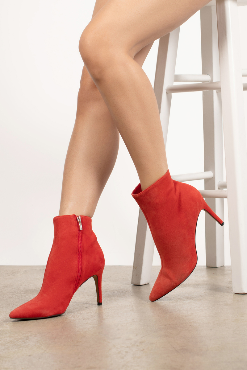 66484149c29 Red Steve Madden Boots - Stiletto Ankle Boots - Red Designer Boots ...