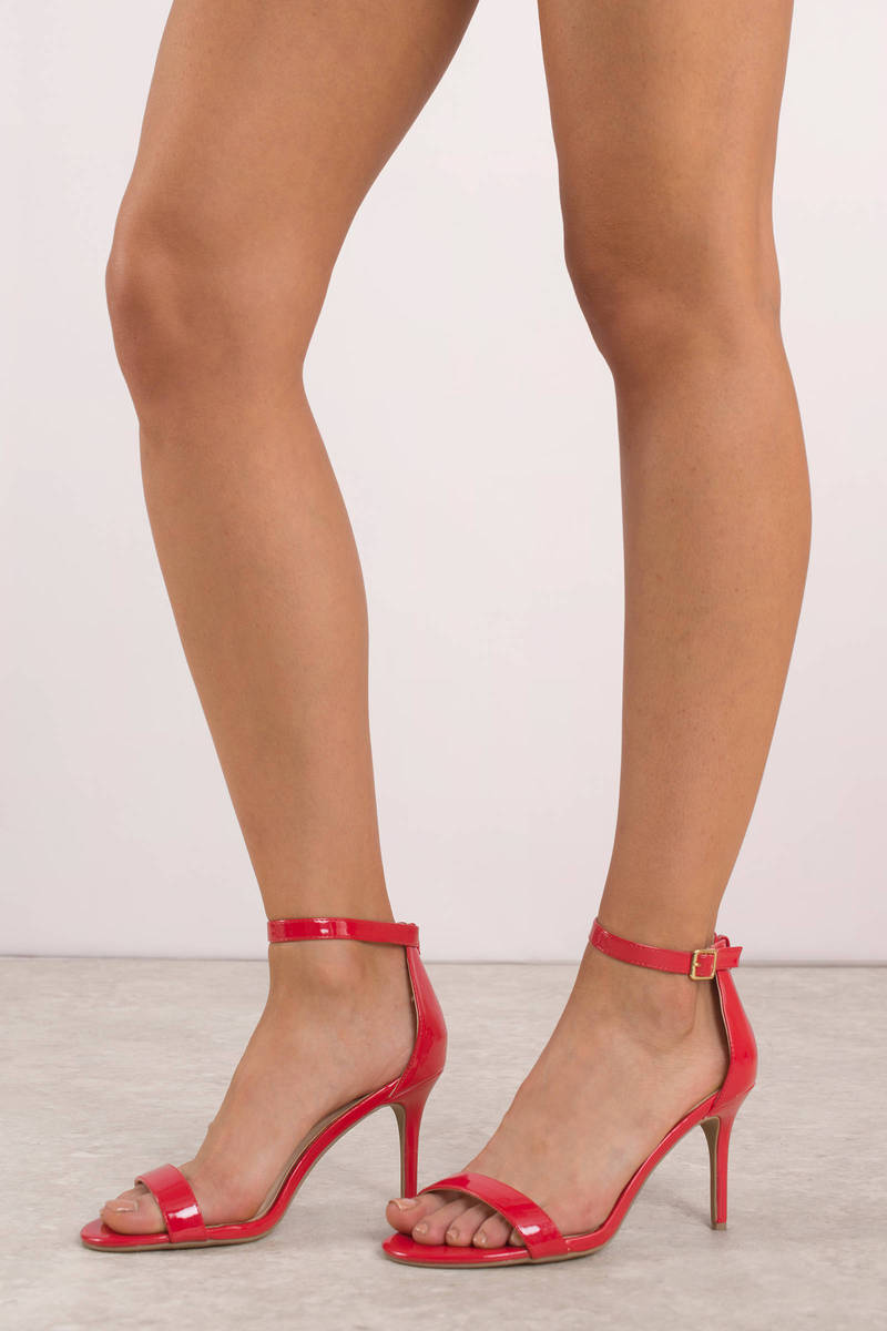Cute Red Heels Holiday Stiletto Heels Red Formal Heels