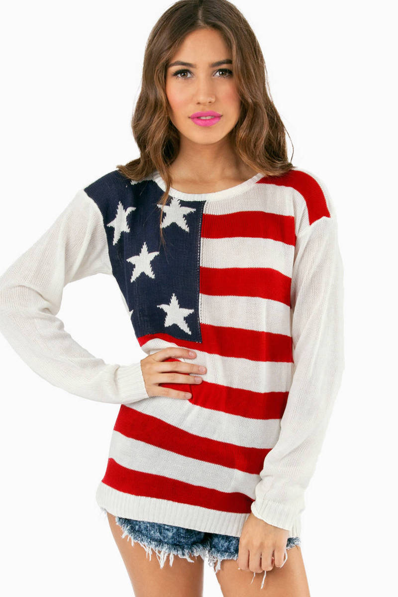 America For Me Knit Sweater