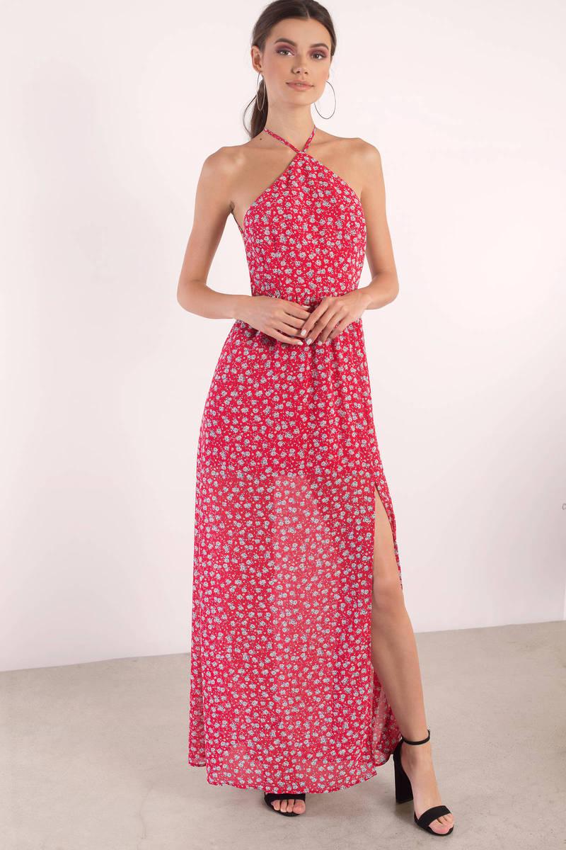a057518d289 Cute Red Dress - Backless Dress - Country Maxi Dress - Maxi Dress ...