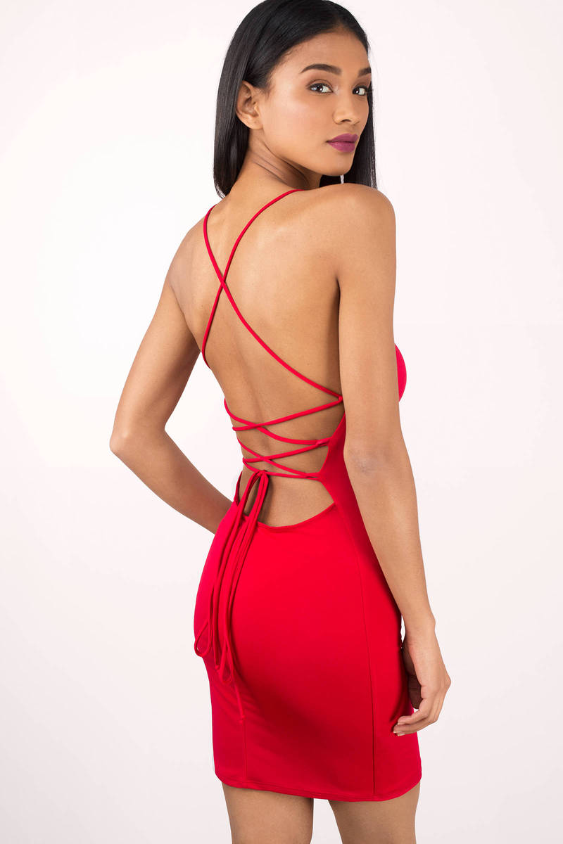 Pretty Thang Red Bodycon Dress