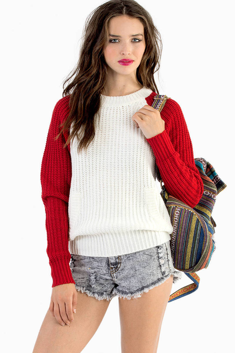 Cheap Red Sweater - Red Sweater - Knitted Sweater - Red Top - $21 ...