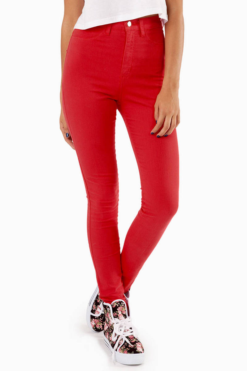 Free shipping and returns on Women's Red High-Waisted Jeans at coolmfilb6.gq
