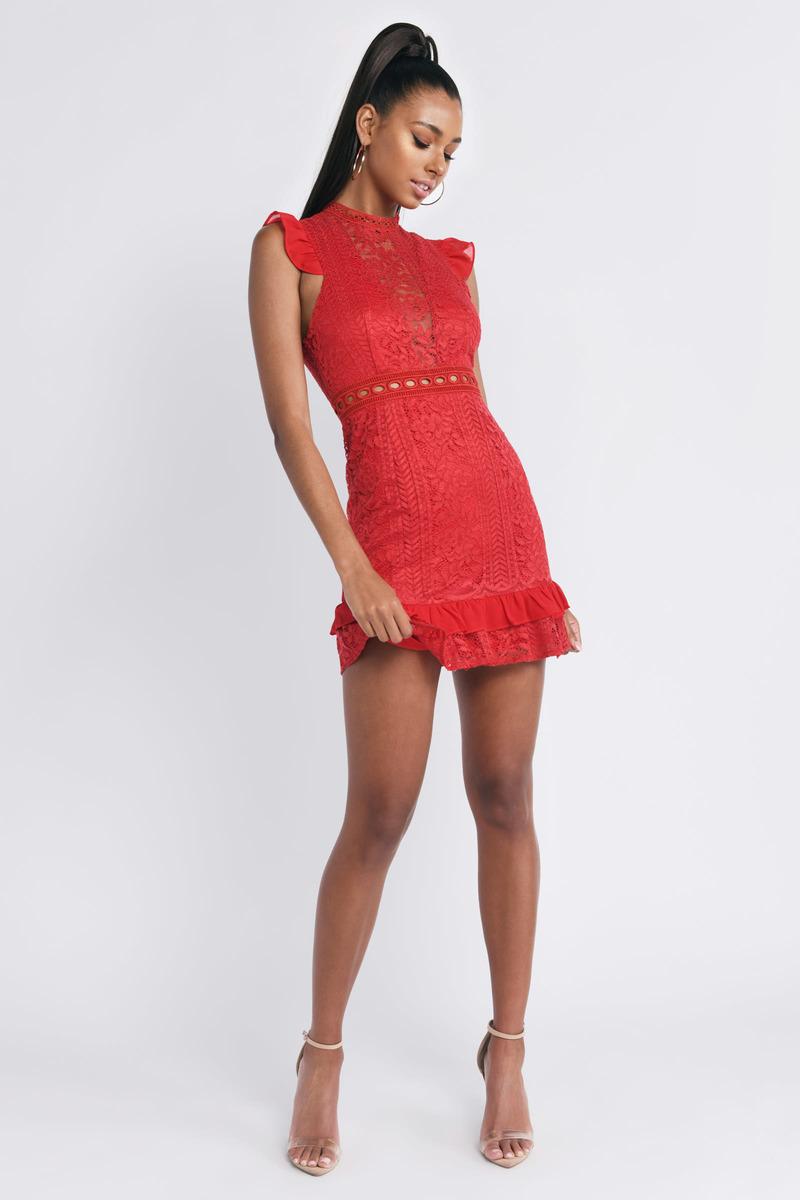 3d253214d2a Spotlight Ruffle Lace Skater Dress