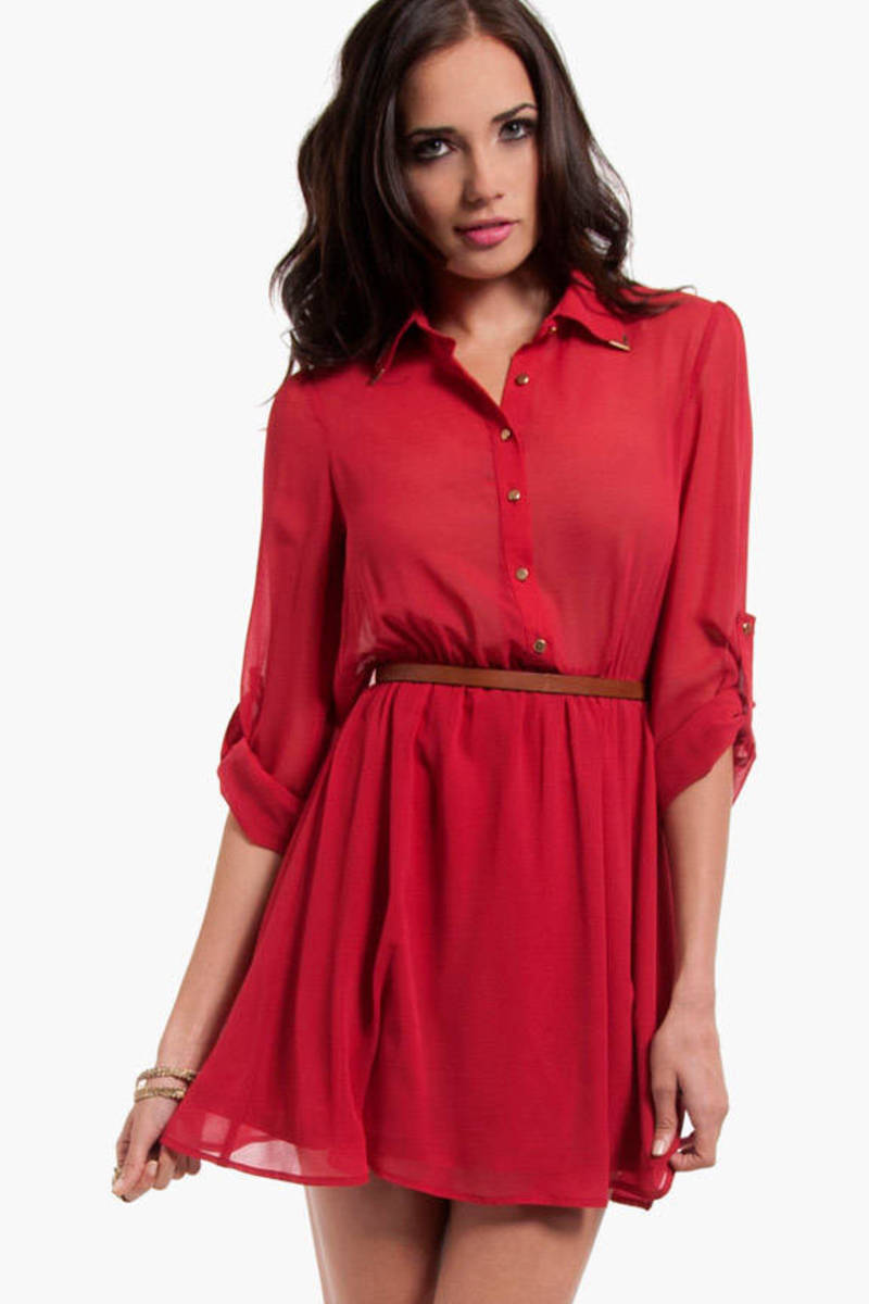 Tessa Open Back Shirt Dress