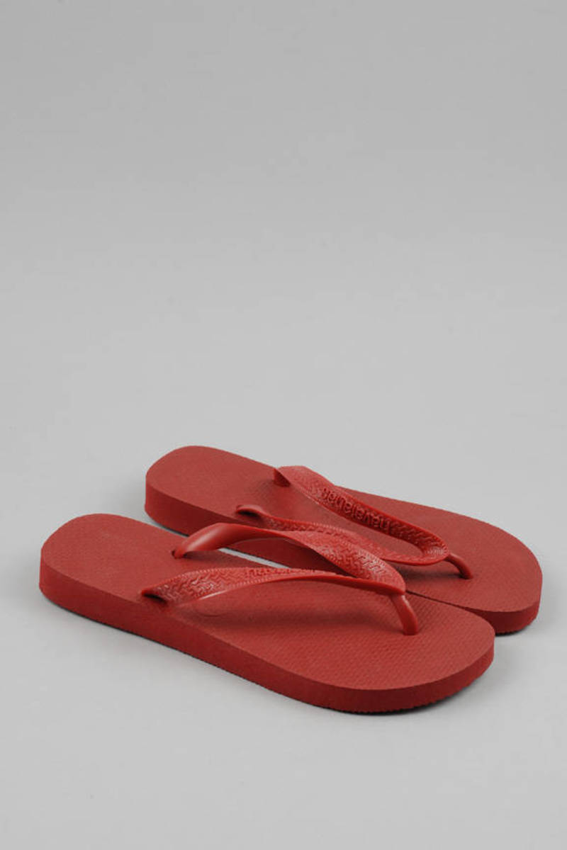 16e0318b5 Trendy Red Havaianas Sandals - Rubber Flip Flops - Red Thong Sandals ...