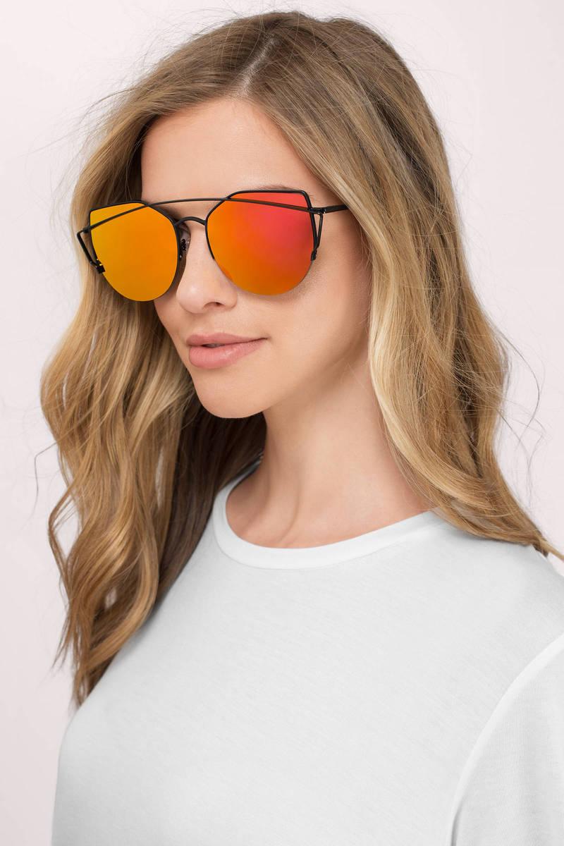 80636676cf5 Grey Mirrored Sunglasses - Aviators - Red Mirrored Sunglasses -  14 ...