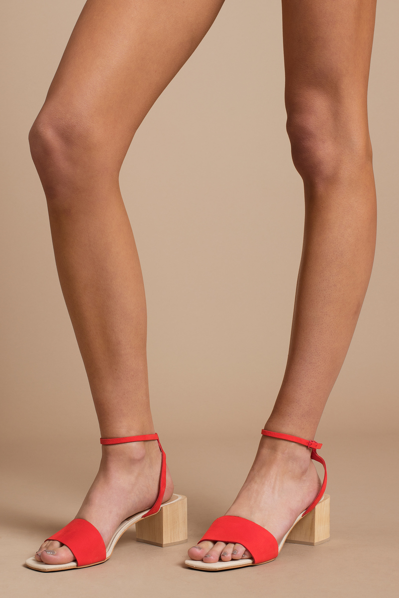 849dbacb605 Red Dolce Vita Heels - Bright Summer Heels - Red Spring Heels -  63 ...