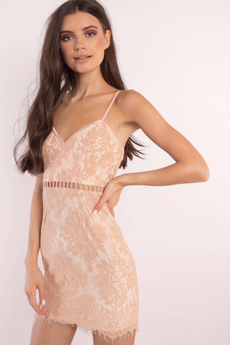 After dark lace bodycon dress