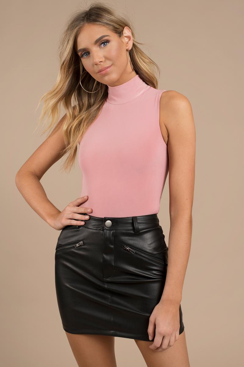 Cute Rose Bodysuit - High Neck Bodysuit - Sleeveless Bodysuit -  12 ... 31d3c805a