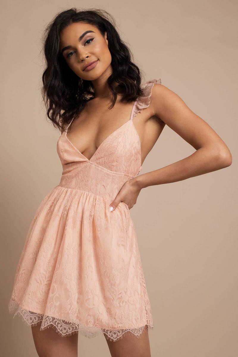 95faa89eff Pretty Pink Skater Dress - Spring Dress - Short Pink Dress - C  58 ...