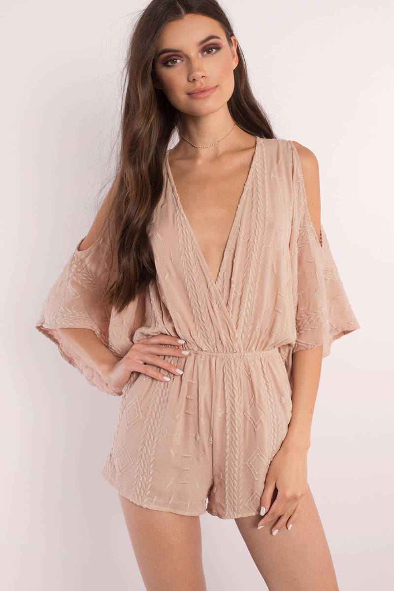 Brynn Rose Embroidered Romper