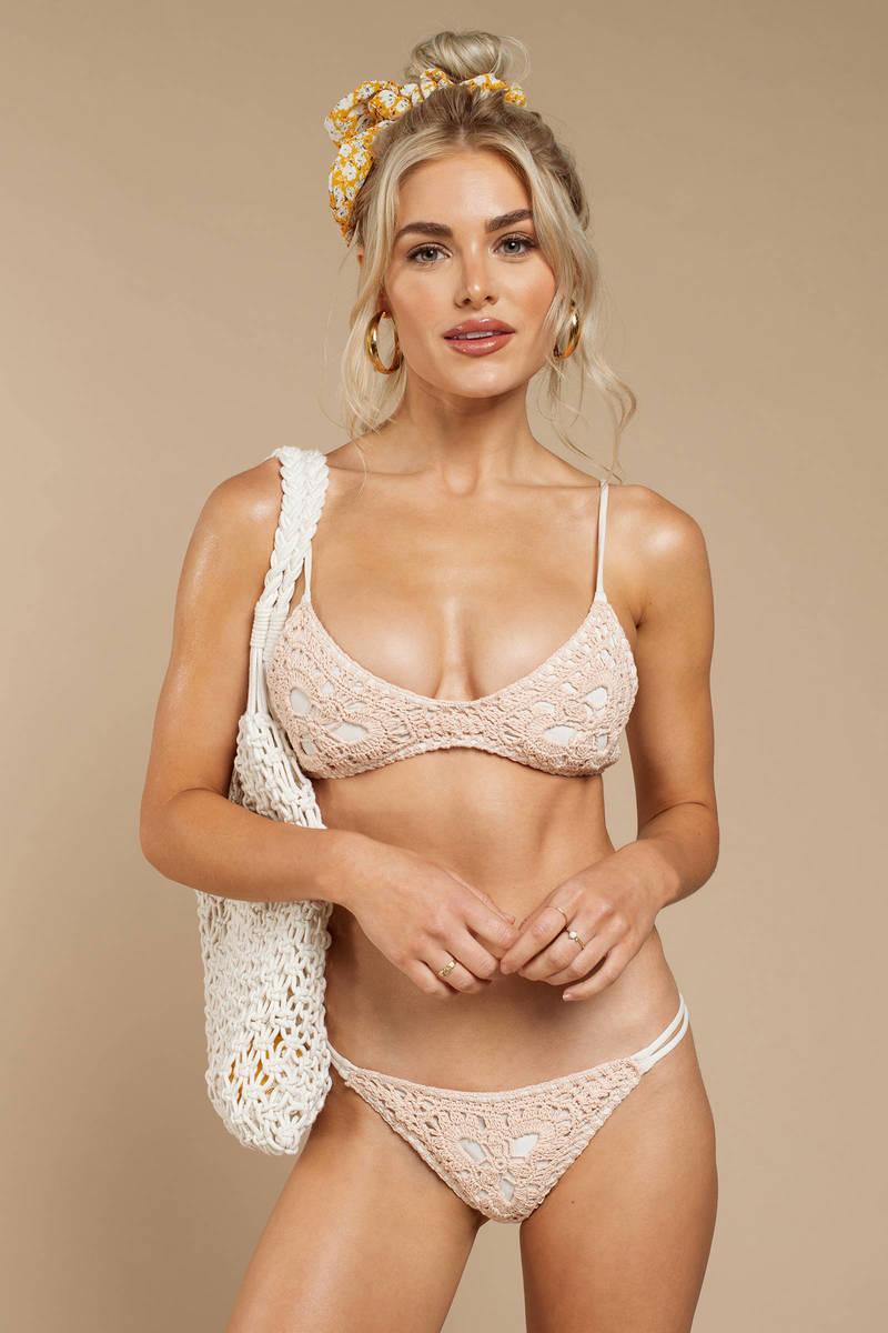 b77d51312c4ed Rove Cleo Rose Crochet Bikini Bottom - $64   Tobi US